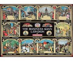 Vintage del metro de Londres de BUSINESS man's London cuadro decorativo c1930 250gsm brillante A3 de póster
