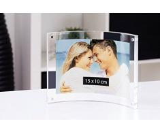 Wedo Cristallic - Marco de fotos acrílico, cierre magnético, transparente