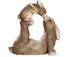 dekojohnson - Figura Decorativa de Conejo de Pascua, Color marrón, Resistente a la Intemperie, para jardín, 36 x 35 cm