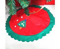 60cm Falda Decoración Estrella de Árbol Navidad Borde Ondulado Verde