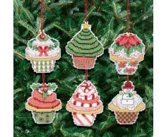 Janlynn Kit para adornos de árbol de Navidad de punto de cruz, diseño de cupcakes