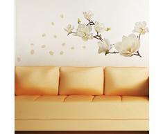 Walplus pequeñas flores Art Home Interior de lisa edoff UK diseño de flores de papel para de pegatinas decorativas de pared, blanco