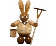 Conejo masculino del conejito de pascua de sin pintar/del marrón que colocan la figura madera de Pascua de las montañas del mineral de la decoración del 19cm OTRA VEZ Pascua
