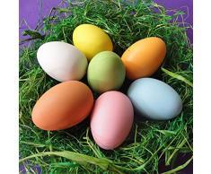 Tinksky La falsificación plástica de la pintada de la pintura de 12pcs DIY eggs los huevos de Pascua los niños juegan el regalo de cumpleaños de la Navidad para los niños (color al azar)