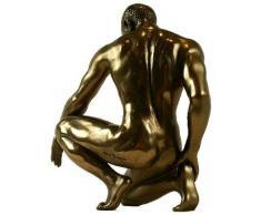 Melancholy Escultura artística de bronce, diseño de hombre desnudo