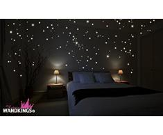 Wandkings FUA-000545 - Pegatinas fluorescentes de pared, 250 puntos luminosos