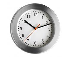 TFA 98.1047 - Reloj de pared, color plateado