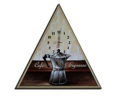 Reloj de pared Café Espresso - Cuadros en Lienzo - COMPLETO pintado a mano - Lounge relojo 50x50cm M 28