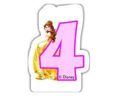 Partido Ênico Disney Princess y Animales cuarta Vela de cumpleaños