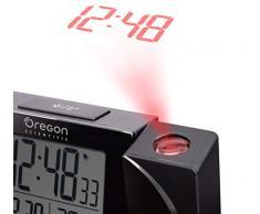 Oregon Scientific Reloj Proyector Radio Controlado, Compuesto, Negro, 11x13x5 cm