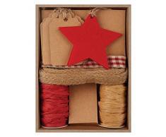 Crear regalo de Navidad papel y fieltro etiqueta Kit, Plata
