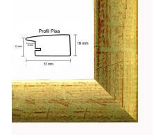 Pisa MDF marco para cuadros y pósteres 46x61 cm 61x46 cm Color selecionado: oro brillante Con vidrio acrílico antireflejo