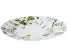 """GILDE plato decorado con flores silvestres, Material Porcelana de ceniza de hueso ó Bone China 27 cm Serie """"Bella Vita"""""""
