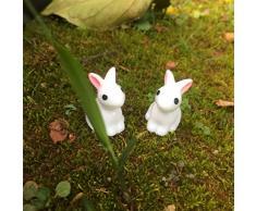 Healifty 35 Piezas Figura de Conejo Estatua de Conejo Conejito Resina Animal Personajes Juguetes Cake Topper Artesanía Jardín de Hadas Césped Micro Paisaje Decoración de Pascua