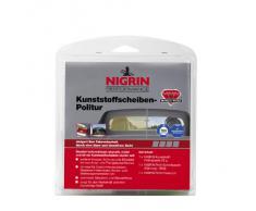 Nigrin 73914 RepairTec - Juego de limpieza de acrílico y plexiglas (1 pasta limpiadora de plástico de 25g, 1 pieza de papel de lija con granulado 1600 y 1 toalla de limpieza)
