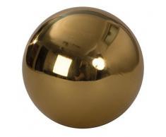 2 Piezas Decoración Bolas Bolas de jardín oro de Acero Diámetro 15 cm