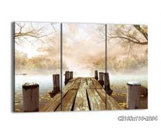 Cuadro sobre lienzo - 3 piezas - Impresión en lienzo - Ancho: 165cm, Altura: 110cm - Foto número 2394 - listo para colgar - en un marco - CE165x110-2394