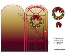 Corona de Navidad puerta delantera por Diane Furniss