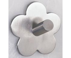 Wenko Fiore Gancho de Pared, Acero Inoxidable, Plata Mate, 5.8x5.8x3 cm, 2 Unidades