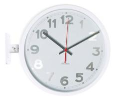 Karlsson KA5503WH - Reloj de pared, doble cara, números, color blanco