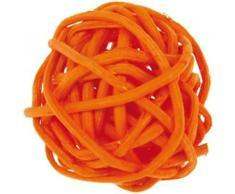 Artificielles-Bolas de mimbre, color naranja x 12 cm, diámetro: 3 cm.