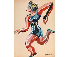 ALEXANDER RODCHENKO samfme ruso URSS constructivismo un corredor, de la serie circo máscaras 250gsm tarjeta del arte polarmk A3 Póster