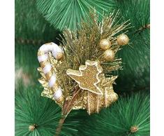 Decoración navideña para el hogar. Brillo de Navidad Bayas artificiales Hojas de pino Acebo de bayas Adornos con forma de caramelo Para el banquete de boda en casa Flora Árbol de navidad Guirnalda Dec