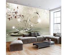 Fotomural 400x280 cm - 3 tres colores a elegir - Papel tejido-no tejido. Fotomurales - Papel pintado - flores gotas de agua b-A-0283-a-d