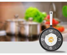 Creative Light- 12 pulgadas de la personalidad de la moda moderna pastoral creativa simple tortilla sartén reloj de pared de silencio