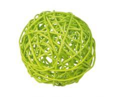 Ratán Bolas Color Verde, 9 cm, 4 unidades, bolas mesa decorativa Decoración