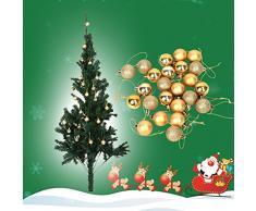 Pack De 2 (48pcs) Decoración Del Árbol De Navidad Gotas De Bolas Artificiales Adornos Colgantes Adornos Colgantes Para Interiores Al Aire Libre Del Árbol De Navidad Fiesta(Dorado)