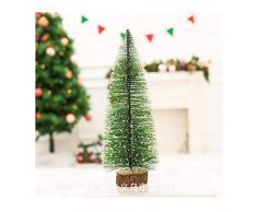 WUFANGFF Ventana Árbol De Navidad Navidad Cedro Blanco Agujas De Pino Pequeños Árboles Amazon Caliente Mini Ventana Árbol De Navidad Decoración Escritorio,E20Cm