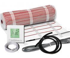 Bodenheizung 24 - Calefacción por suelo radiante eléctrico juego completo bz-150 más (1 m² - 0,5 mx 2 m)