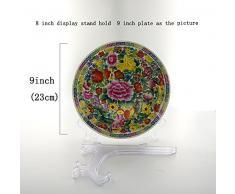6 pieza plástico Pantalla Soporte Caballete para Foto Marco Bowl Placa (8 pulgadas)