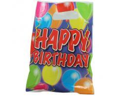 8 piezas bolsa de fiesta de los globos del feliz cumpleaños. Regalo de cumpleaños