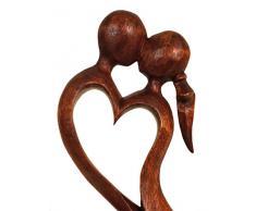 De madera con diseño de - Escultura de amor de diferentes tamaños, madera, 10 cm