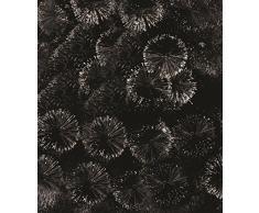 Árbol de Navidad artificial NEGRO - Original con purpurina efecto BOLA - 1m80 de altura - Pie de metal - calidad superior