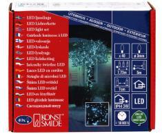 Konstsmide 3627-440 - Guirnalda de micro LED para el árbol de navidad (40 diodos azules, transformador exterior 24 V, cable negro)