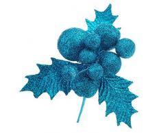 Decoraciones de Navidad, cebbay Navidad Figurita de frutas para árbol de Navidad Home Deco, azul celeste, Small