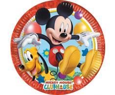 Mickey Mousse - Juego de platos para cumpleaños, 8 unidades (Procos 6616131)