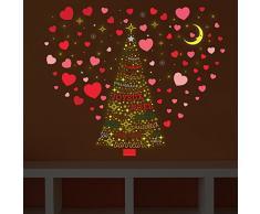 Navidad decoración pegatinas de pared árbol de Navidad amor con citas francés y estrellas pared murales adhesivos salón niños guardería escuela restaurante Cafe Hotel casa decoración