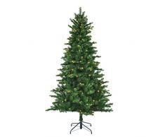 Black Box Trees 385786 - Árbol de Navidad artificial (con luces led, 185 x 112 cm, 200 luces, 898 ramas), color verde