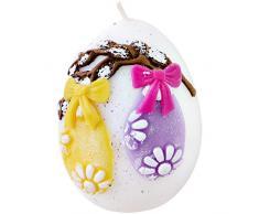 holzalbum Álbum de Madera, Huevo de Pascua, Vela de Pascua, 7 x 9 cm de diámetro, Huevos de Pascua, de Cera, Hecho a Mano