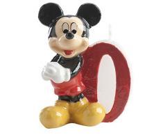 Dekora 346156 - Vela nº 0 con diseño Mickey-Minnie, 6,5 cm