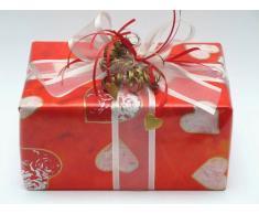Susy Card 11273877 - Papel de regalo (30 m), diseño de corazón en llamas