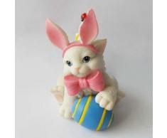 """Encantador Purrsonalities """"I 'm todos los oídos"""" Conejo de Pascua figura decorativa"""