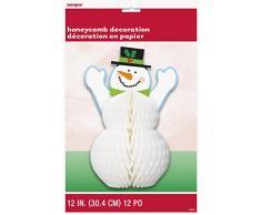 1 Decoración de la mesa 30 cm - muñeco de nieve