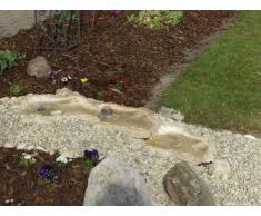 Wasserkaskaden - Fuente de Cascada prefabricada para jardín (Eder, 53 x 40 x 8 cm), Color marrón y Beige