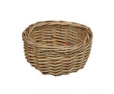 Rojo cesta Mini cuenco, mimbre, marrón, 12 x 12 x 6 cm