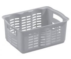 Curver 159540 cesta para la ropa sucia de polipropileno modelo mediano plateado 36 x 26 x 16 cm